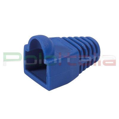 100% Vero 10x Copriconnettore Gommino Per Plug Cavo Di Rete Cat5 6 7 Ethernet Rj45 Lan Blu Luminoso A Colori