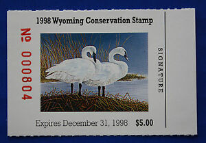 Image Is Loading U S WY15 1998 Wyoming State Conservation Stamp MNH