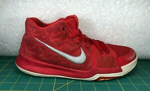 d2ff9db77f2a Nike Kyrie 3 GS University Red Suede Basketball Shoes Sneakers~Boy s ...