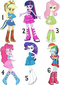 mlp equestria girls sticker wall deco decal lot ng my little pony ebay