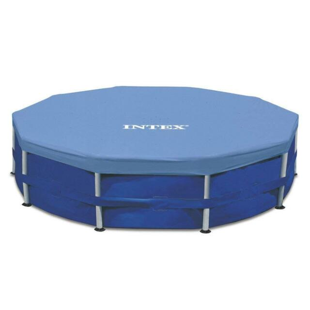 Intex 58901E 15ft Round Storage Protector Swimming Hot Tub Pool Cover Blue