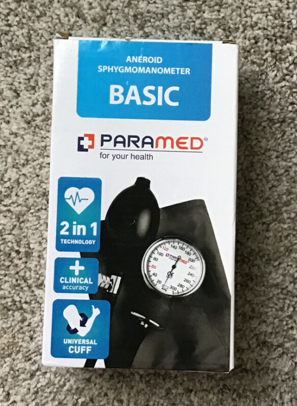 Manual Blood Pressure Cuff by PARAMED –  BASIC Aneroid Sphygmomanometer