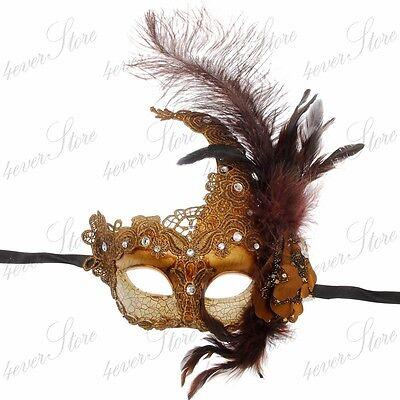Venetian Goddess Collection Masquerade Mask Made of Resin Paper Mache Technique