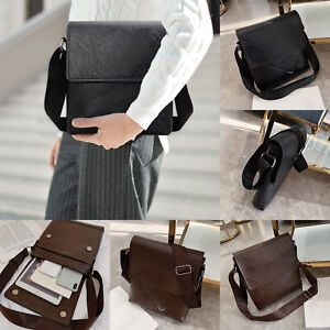 Men-Leather-Messenger-Bags-Shoulder-Bag-Crossbody-Satchel-Handbag-Briefcase-Bag