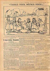 Caricature-Taisez-vous-Mefiez-vous-Sourd-Muets-Paris-Maurice-Sauvayre-WWI-1915