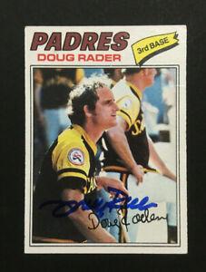 Doug-Rader-Padres-signed-1977-Topps-baseball-card-9-Auto-Autograph
