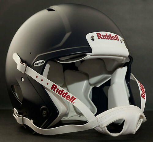 ADULT LARGE Riddell SPEED Football Helmet (MATTE NAVY) with S2BD-SW-SP Facemask