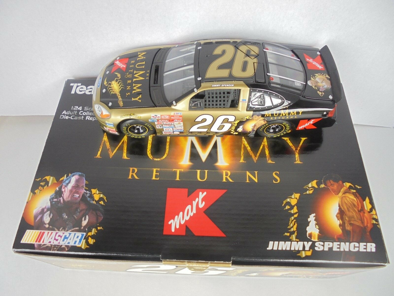 Jimmy Spencer  26 K-MART THE MUMMY RETURNS  2001 Ford Taurus TCOS Nascar Diecast