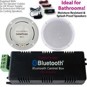 Image Is Loading Bathroom Bluetooth Ceiling Speaker Kit Wireless Amp Amp