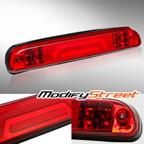 FOR 1993-2011 FORD RANGER BLACK RED 3D LED TUBE 3RD THIRD BRAKE LIGHT//CARGO LAMP