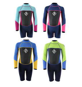 MD Junior Squadron Long Sleeve//Shorty Wetsuit by TWO BARE FEET Watersports Kids