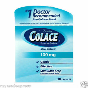Colace Stool Softener 100mg Capsules 10 Ct 3508660