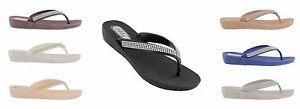 Ella-Womens-S1-Low-Wedge-Toe-Post-Flip-Flop-Sandals