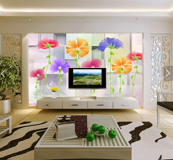3D Transparent Flower Bubble 88 Wall Paper Wall Print Decal Wall AJ WALLPAPER CA