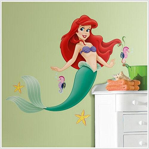 "The LITTLE MERMAID wall sticker MURAL ARIEL 40"" tall decor Disney princess"