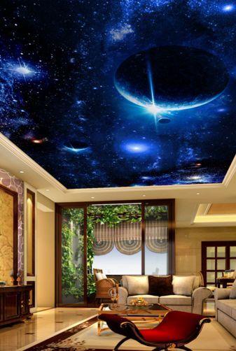 3D Schöne Planeten-Szene 23 Fototapeten Wandbild Fototapete BildTapete FamilieDE