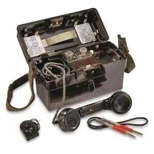 German-Army-Surplus-Vintage-Field-Phone-FF-OB-ZB-standard-elektrik-lorenz