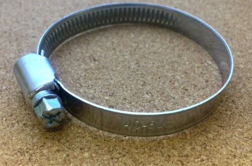 60mm x 9mm Hose Clip Wormdrive Steel Hose Clamp 40mm