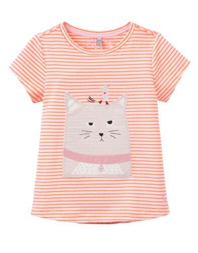 98 104 110 116 122 128 134 140 TOM JOULE T-Shirt Katze Maus Streifen orange Gr