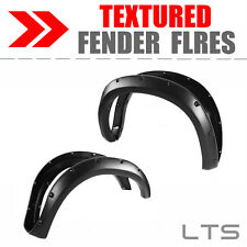 07-13 Toyota Tundra Pocket Style Riveted Textured Fender Flares Wheel Covers BLK
