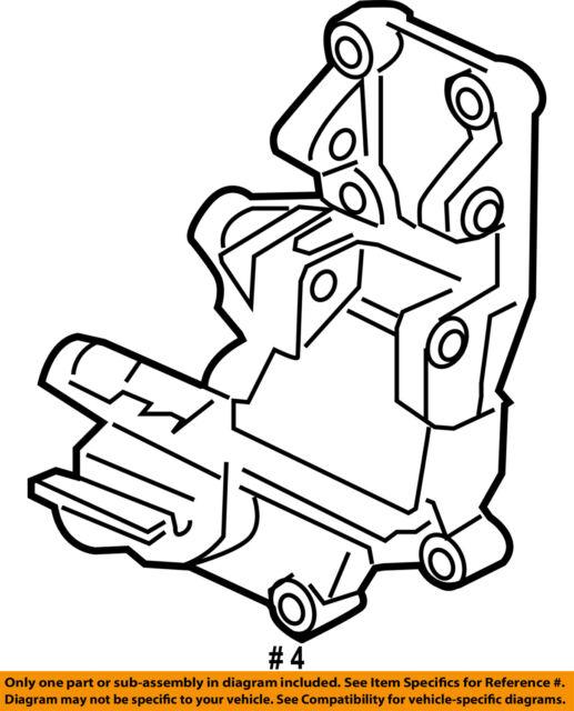Mitsubishi Oem 2016 Lancer 2 4l L4 Alternator Bracket 1801a098 For