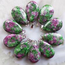 Design Ruby in Fuchsite /& Tibetan Silver Necklace /& Earring /& Bracelet Set W7342
