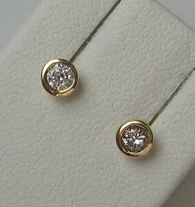 1-Paar-Ohrringe-Ohrstecker-mit-Brillanten-0-10-ct-aus-14-Kt-585-Gold-earrings