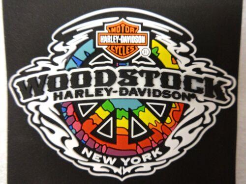 HARLEY-DAVIDSON PEACE SIGN MILETILE MAGNET NY WORLD FAMOUS WOODSTOCK