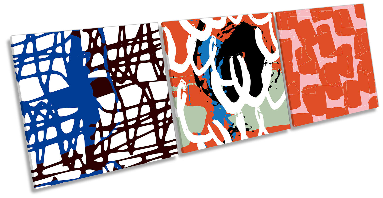 Modern Kunst Expressions Set of 3 CANVAS Wand Kunst Drucken Treble Multi-Colourot