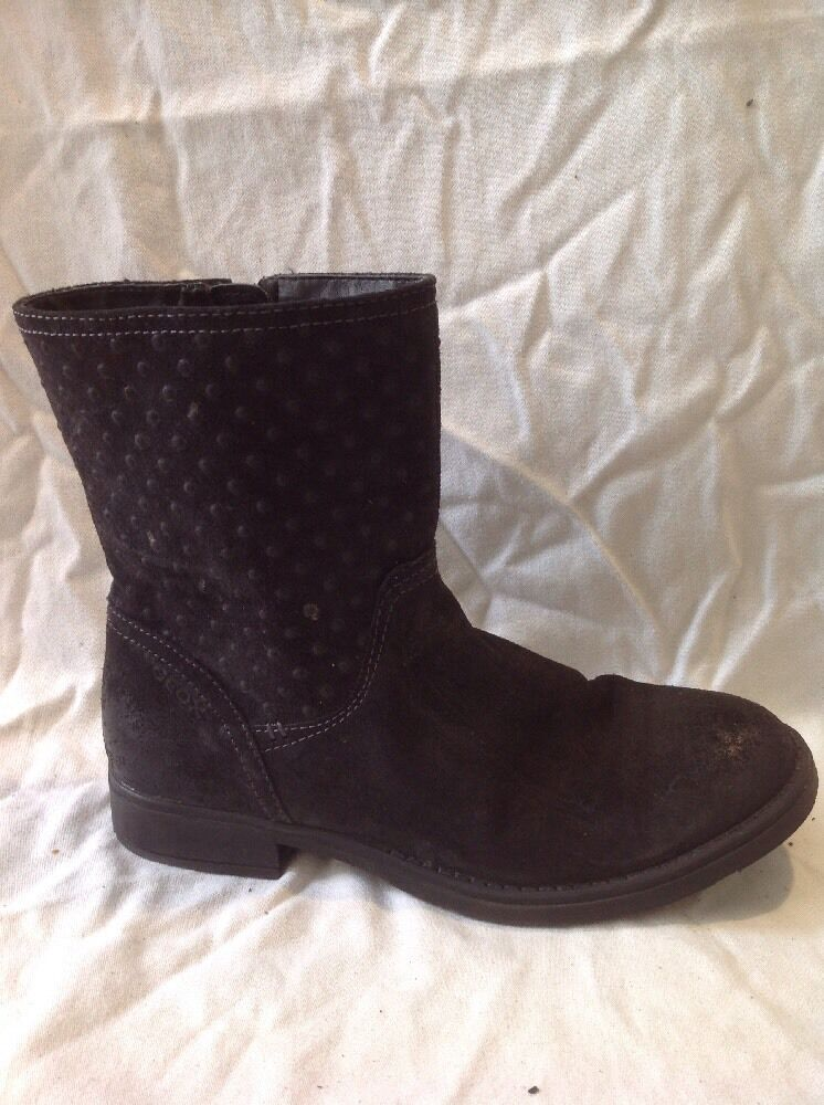 Geox Black Ankle Suede Boots Size 5