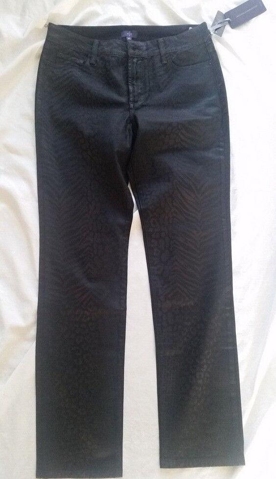 NYDJ Legging Jeans skinny schwarz braun Gr.38P  UK12P Euro 179 95 NEU
