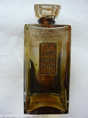 Antique Vintage 1920's Roger & Gallet LE JADE Perfume Parfum Bottle * RARE *