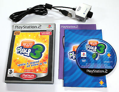 Sony PLAYSTATION 2 PS2 EYETOY PLAY 3 2005 Sony SCES-53315 + CAMERA USB SCEH-0004