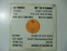 War,Blondie,Jethro Tull,L.Sayer-Disco 33 Giri PROMO LP Compilation Vinile 1982