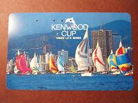 Telefonkarte Japan Hawai Kenwood Cup Segelboote