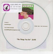 (GO866) Novella, The Things You Do - DJ CD