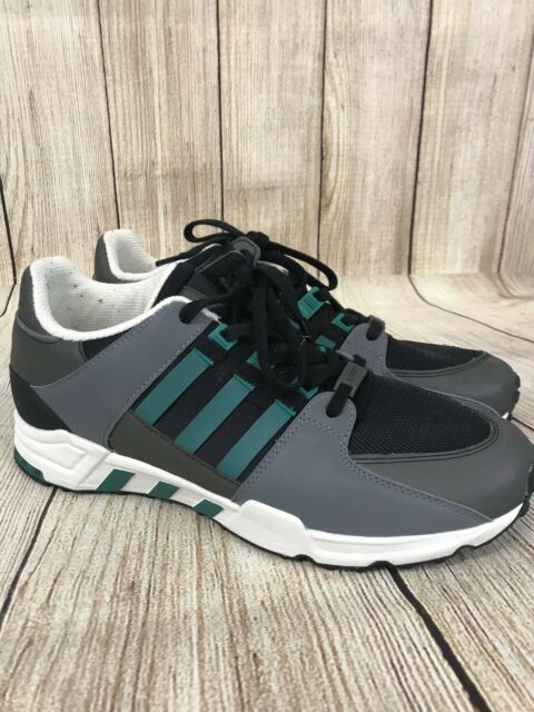 ADIDAS EQT RUNNING SUPPORT SZ 12 EQUIPMENT BLACK SUB GREEN CHALK WHITE S32144