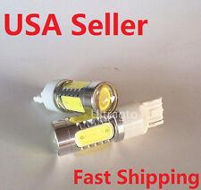 2X T20 7440 W21W 10W COB High Power Car Signal Tail Turn LED Light Xenon White