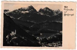 Ansichtskarte Schloss Neuschwanstein und Hohenschwangau - 1933 - schwarz/weiß