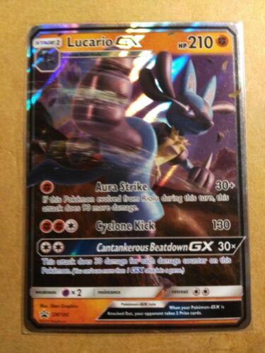 Ultra Rare NM Pokemon Card Lucario GX SM100 NON-JUMBO SM Black Star Promos