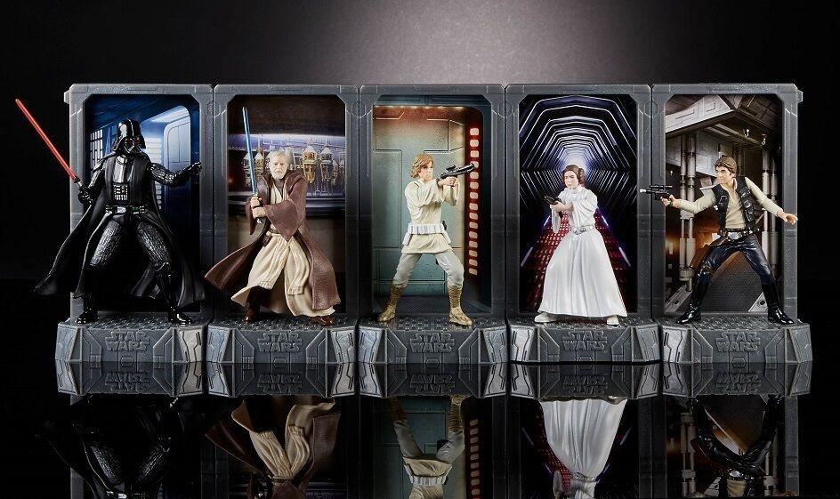 STAR Wars Nero Serie 40TH ANNIVERSARIO 3.75 pollici Titanio Serie Figure Set