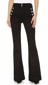 $227 NEW McGuire Denim - Bonaparte High Rise Wide Leg Trouser Jeans in Black 29