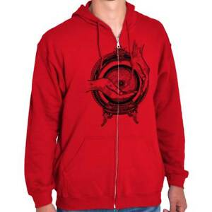 Hands-Eye-Crystal-Ball-Symbolic-Graphic-Gift-Zipper-Sweat-Shirt-Zip-Sweatshirt