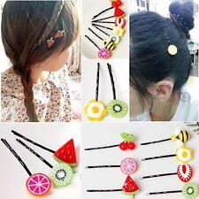 10 Stück niedlich Haarspange mit Obst Modell Pendant Mädchen beliebt Haarnadel