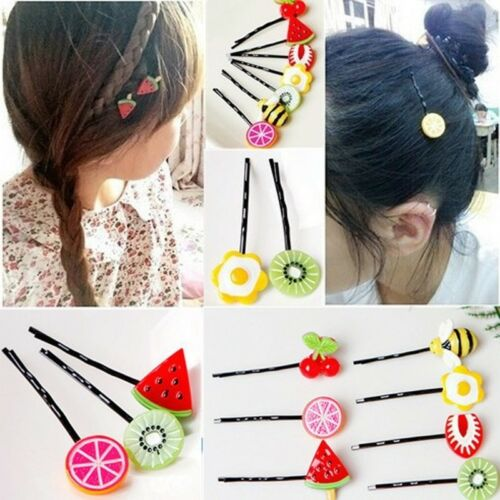 Art Design 10Pcs Fruit Kids Girl Hairpin Barrette Hair Clips Accessories
