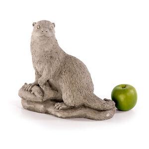 Otter fischotter steinotter teich garten gartenfiguren for Gartenfiguren stein
