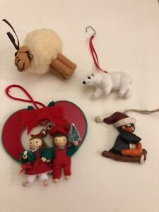image is loading lot of 4 christmas ornaments sheep polar bear