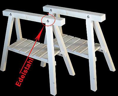 VertrauenswüRdig Stützböcke Mit Ablage,2 Neue Arbeitsböcke, Holzbock,schreinerbock,montagebock,