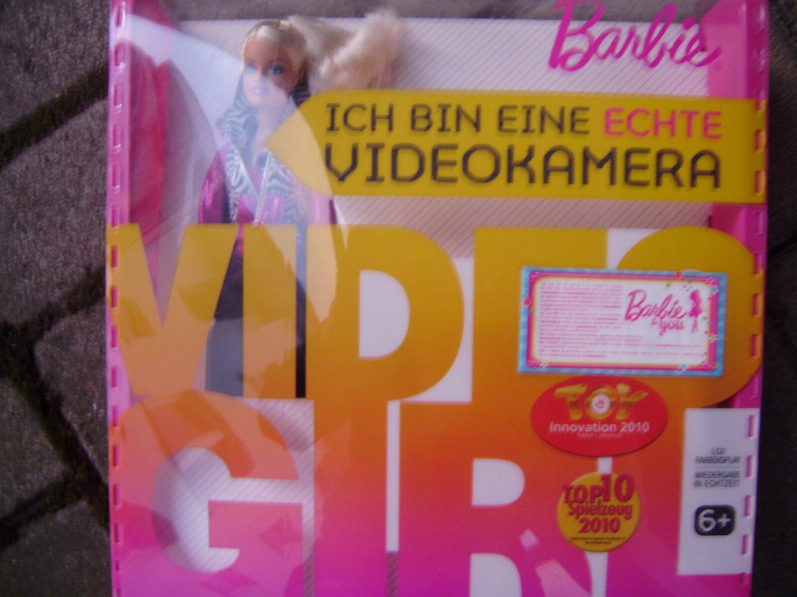 BARBIE VIDEO GIRL MIT ECHTER ECHTER ECHTER KAMERA CAM & FARB 3a9e94