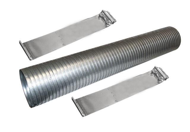 "2-1//2/"" ID x 18/"" EXHAUST FLEX PIPE Repair Flexible Connector Tube 2.5/"" Tubing"